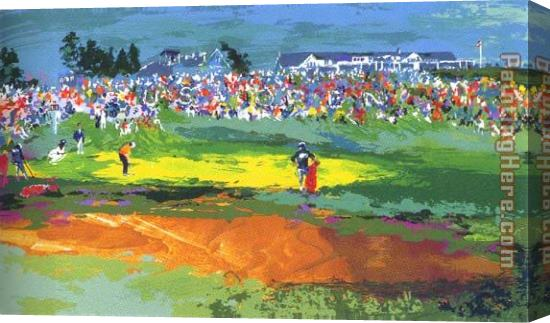 Leroy Neiman The Home Hole at Shinnecock Stretched Canvas Painting