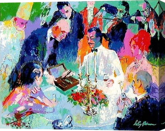 Leroy Neiman Wine, Women and Cigars Stretched Canvas Painting