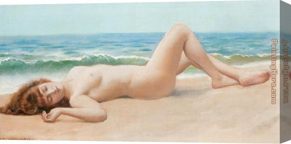 Lord Frederick Leighton Nude on the Beach Stretched Canvas Painting