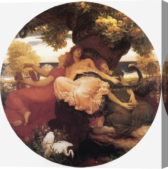 Lord Frederick Leighton The Garden of the Hesperides Stretched Canvas Painting