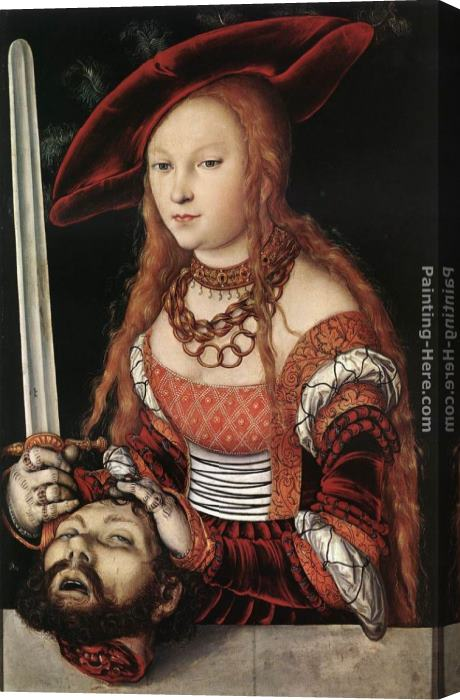 Lucas Cranach the Elder Judith with the Head of Holofernes Stretched Canvas Painting