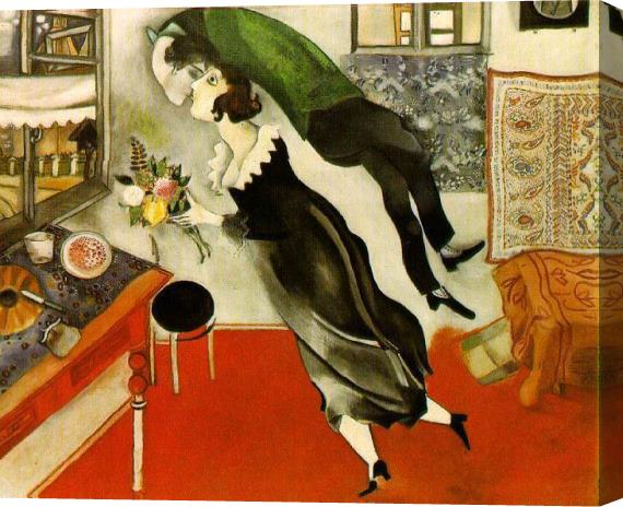 Marc Chagall Birthday Stretched Canvas Painting