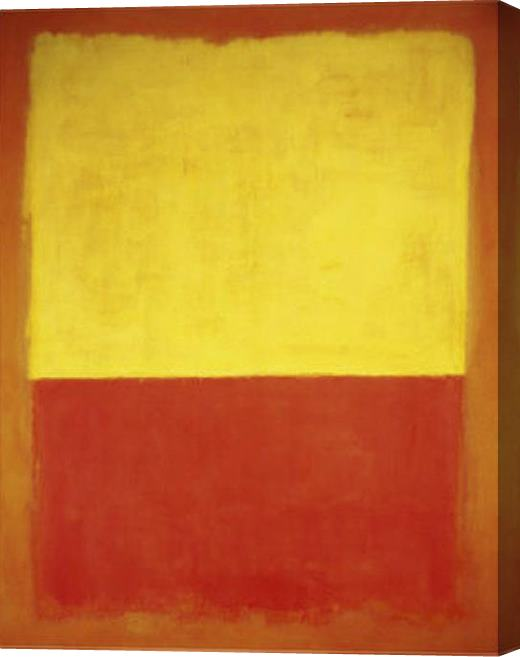 Mark Rothko Untitled no12 Red and Yellow Stretched Canvas Painting