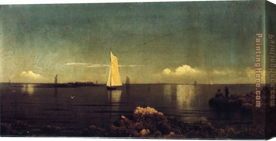 Martin Johnson Heade A Summer Afternoon Boston Harbor Stretched Canvas Painting