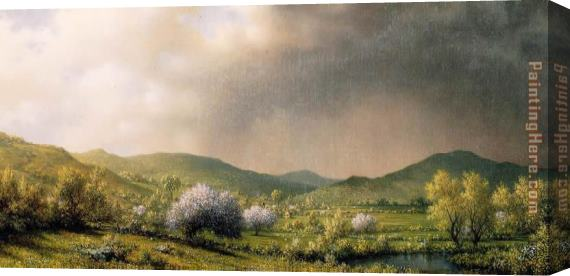Martin Johnson Heade April Showers Stretched Canvas Painting