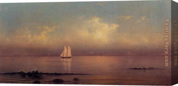 Martin Johnson Heade Becalmed, Long Island Sound Stretched Canvas Painting