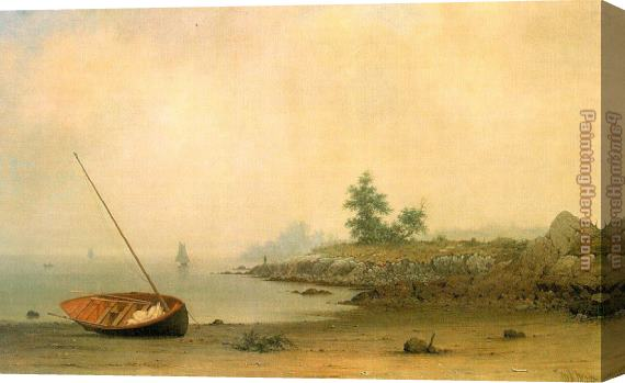 Martin Johnson Heade The Stranded Boat Stretched Canvas Painting
