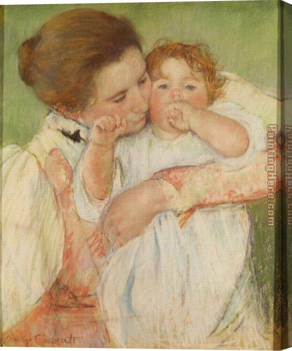 Mary Cassatt Mother and Child, 1897 Stretched Canvas Painting