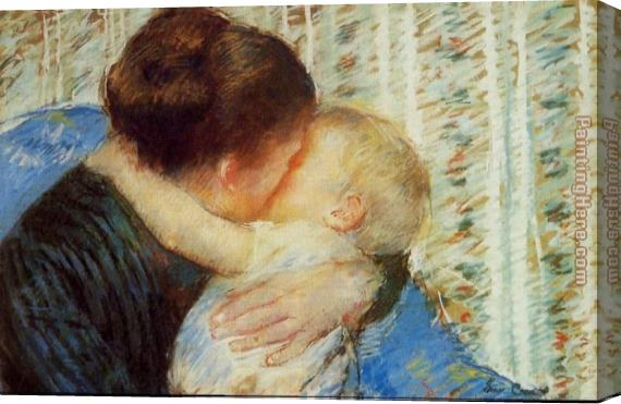 Mary Cassatt Mother And Child 7 Stretched Canvas Painting
