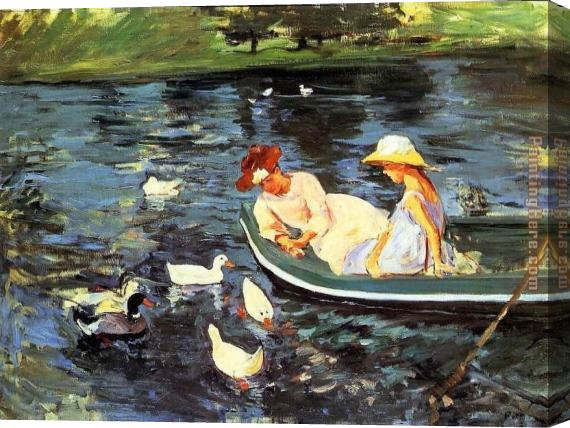 Mary Cassatt Summertime 2 Stretched Canvas Painting