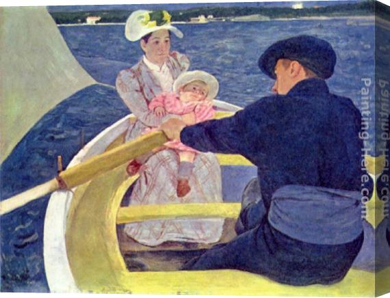 Mary Cassatt The Boating Party Stretched Canvas Painting