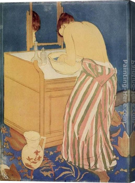 Mary Cassatt Woman Bathing Stretched Canvas Painting