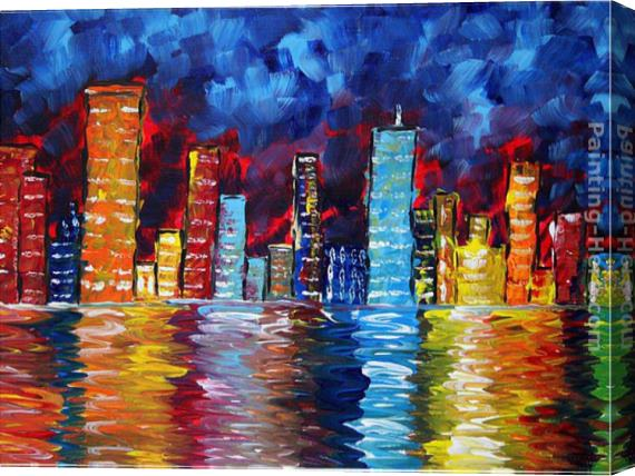 Megan Aroon Duncanson City Nights Stretched Canvas Painting