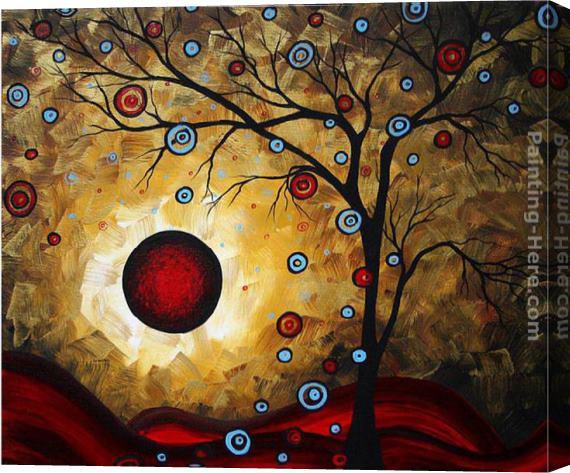 Megan Aroon Duncanson Frosted Gold Stretched Canvas Painting