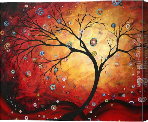 Megan Aroon Duncanson Red Halo Stretched Canvas Painting
