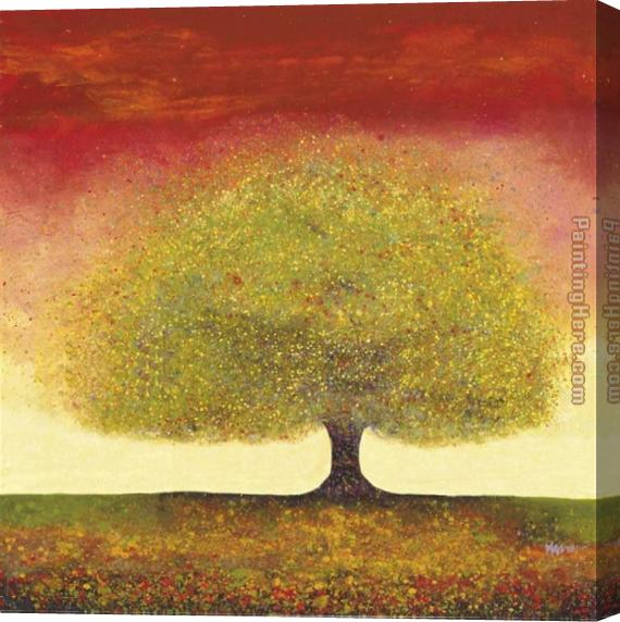 Melissa Graves-Brown Dreaming Tree Red Stretched Canvas Painting