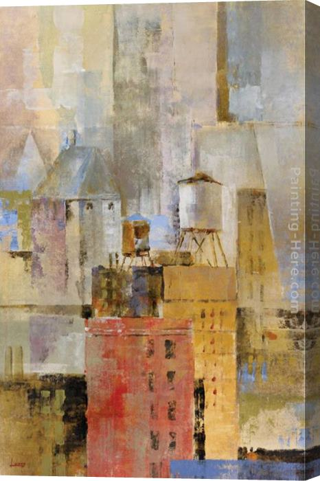 Michael Longo Water Tower I Stretched Canvas Painting