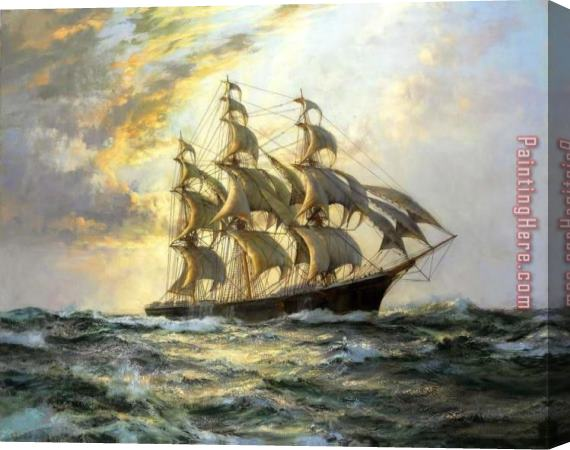 Montague Dawson Flying Cloud Stretched Canvas Painting