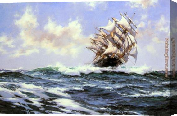 Montague Dawson Sun-Flecked Foam--The Barnabas Webb of Thomaston Stretched Canvas Painting