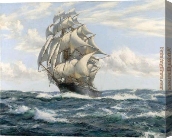 Montague Dawson The Flying Fish Stretched Canvas Painting