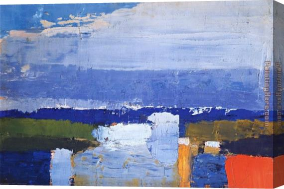 Nicolas De Stael Noon Landscape Stretched Canvas Painting