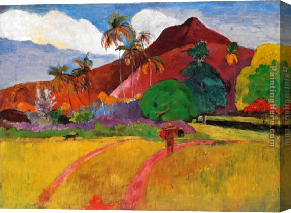 Paul Gauguin Tahitian Landscape Stretched Canvas Painting