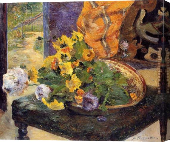 Paul Gauguin The Makings of a Bouquet Stretched Canvas Painting