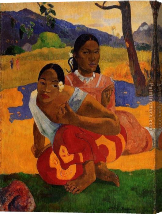 Paul Gauguin When Will You Marry Stretched Canvas Painting