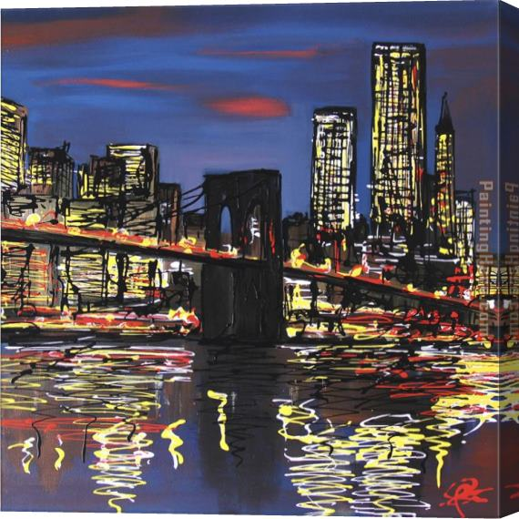 Paul Kenton Brooklyn Blues Stretched Canvas Painting