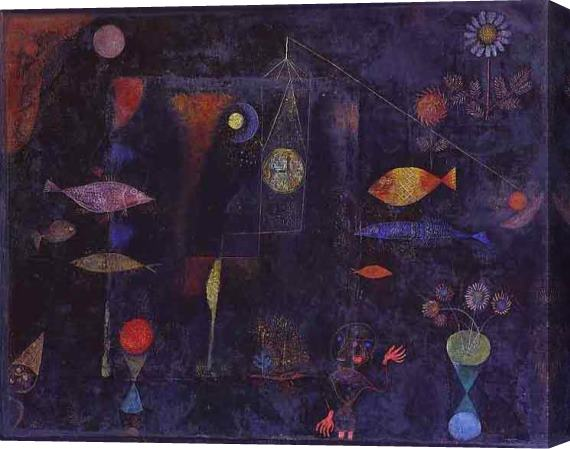 Paul Klee Fish Magic Stretched Canvas Painting