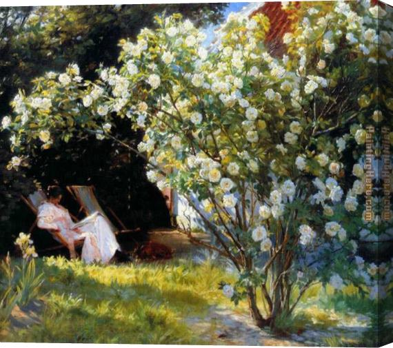 Peder Severin Kroyer Marie en el jardin i Stretched Canvas Painting