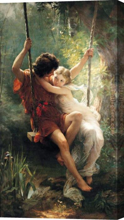 Pierre-Auguste Cot Springtime Stretched Canvas Painting