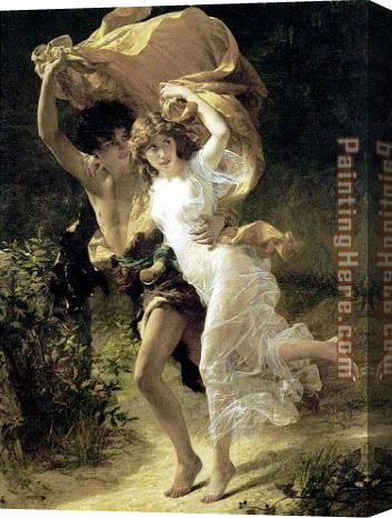 Pierre-Auguste Cot The Storm Stretched Canvas Painting
