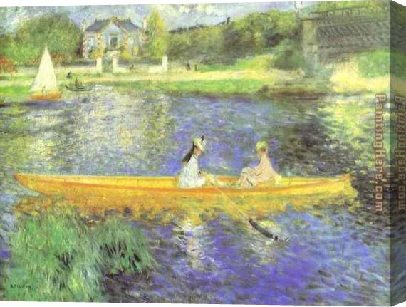 Pierre Auguste Renoir Banks of the Seine at Asnieres Stretched Canvas Painting