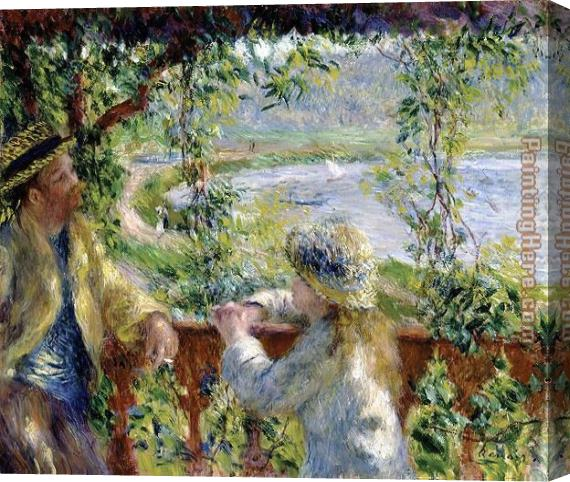 Pierre Auguste Renoir By the Water Stretched Canvas Painting