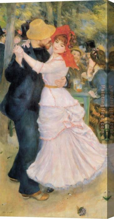 Pierre Auguste Renoir Dance at Bougival Stretched Canvas Painting