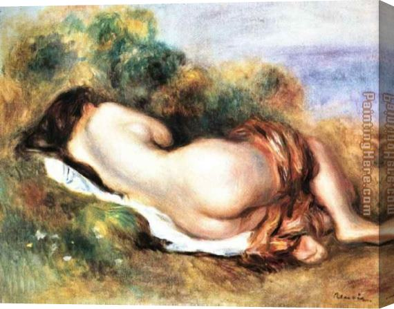 Pierre Auguste Renoir Reclining Nude Stretched Canvas Painting