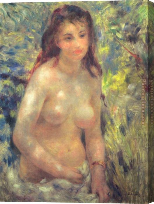 Pierre Auguste Renoir Study Torso Sunlight Effect Stretched Canvas Painting