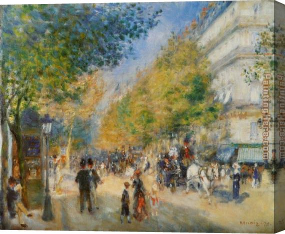Pierre Auguste Renoir The Great Boulevards Stretched Canvas Painting