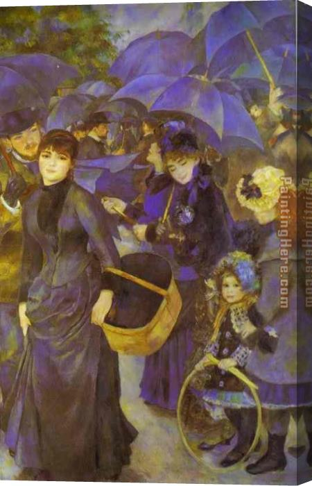 Pierre Auguste Renoir The Umbrellas Stretched Canvas Painting