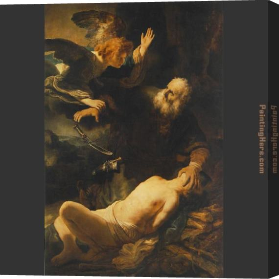 Rembrandt The Sacrifice of Abraham Stretched Canvas Painting