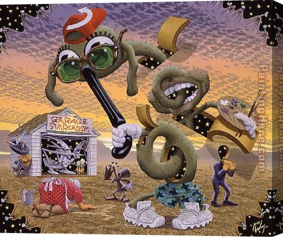 Robert Williams Bastardizing Of The Autonomy Of person Place And Thing Stretched Canvas Painting