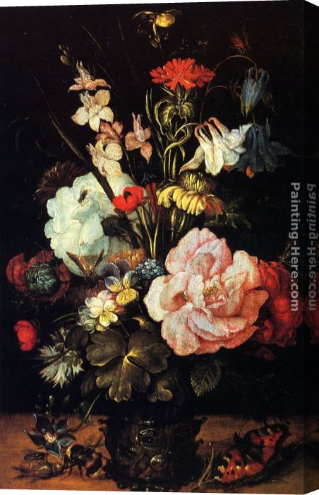 Roelandt Jacobsz Savery Flowers In A Vase Stretched Canvas Painting