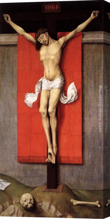 Rogier van der Weyden Crucifixion Diptych right panel Stretched Canvas Painting