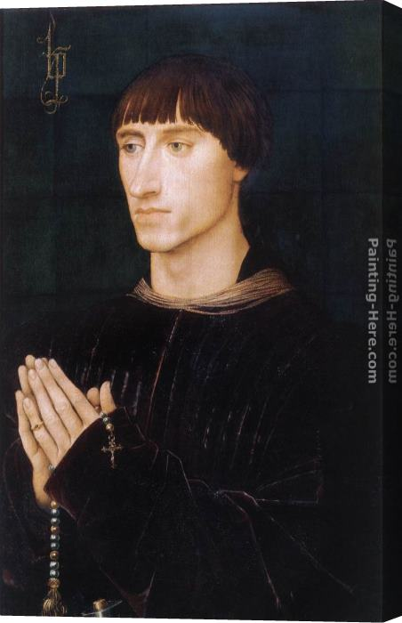 Rogier van der Weyden Portrait Diptych of Philippe de Croy right wing Stretched Canvas Painting
