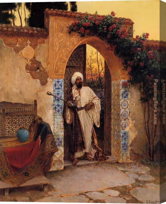 Rudolf Ernst By the Entrance Stretched Canvas Painting