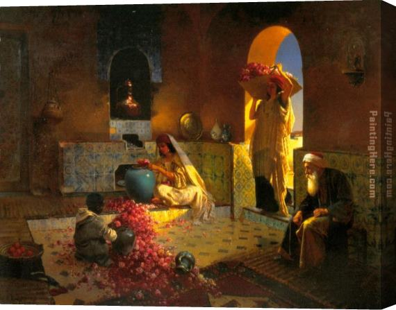Rudolf Ernst The Perfume Maker Stretched Canvas Painting