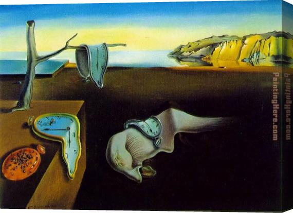 salvador dali clock melting clocks stretched canvas painting for