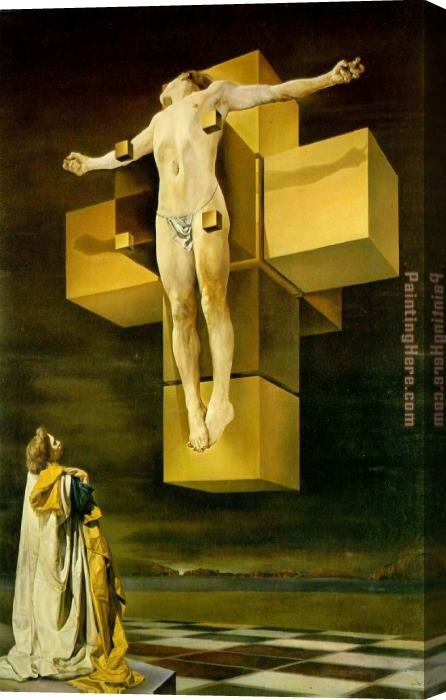 Salvador Dali Cruxifixion (Hypercubic Body) Stretched Canvas Painting