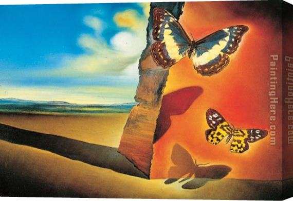 Salvador Dali Paysage aux papillons (Landscape with Butterflies) Stretched Canvas Painting